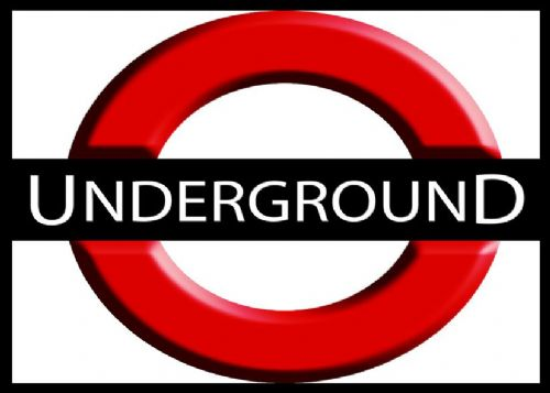 ART - LONDON UNDERGROUND LOGO ART canvas print - self adhesive poster - photo print